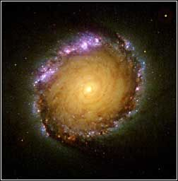 #NASA When you look into the barred spiral galaxy, NGC 1512, it almost looks like the Star Wars depiction of traveling through hyperspace.