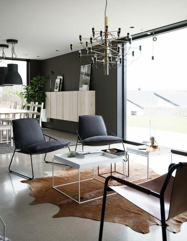 Kuhfell Teppich Verlegen Braun Designer Mbel Wohnzimmer