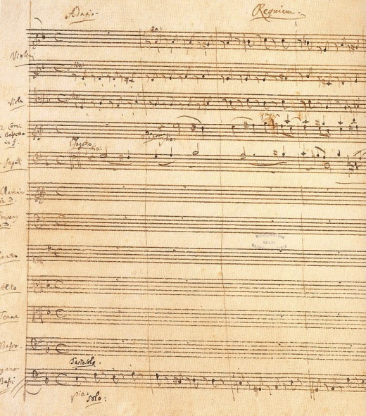 Requiem Original Score This Is Incomplete Because Mozart Died After