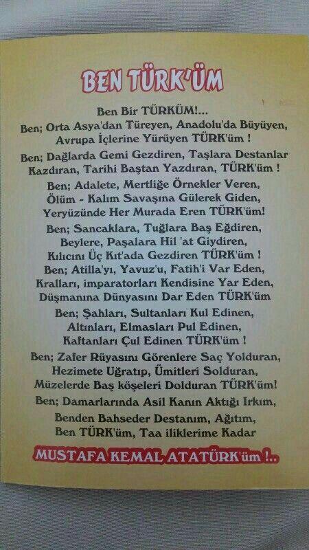 """""""BEN BIR TÜRK'ÜM"""""""