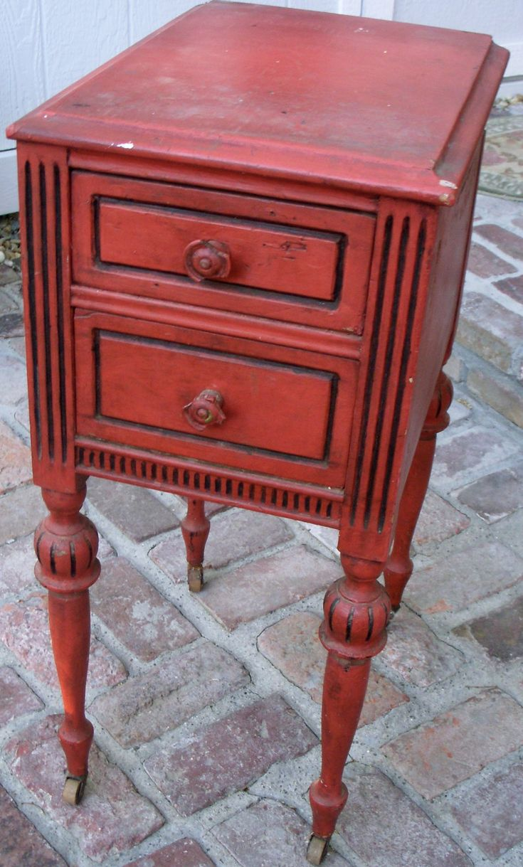 rustic or rusty red with black edges trim or accents distressed red