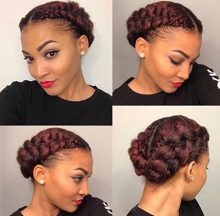 I Need To Try This Halo Braid Because This Humidity Is Hating On My Hair Natural Braided Hairstyles Cornrow Hairstyles Natural Hair Styles