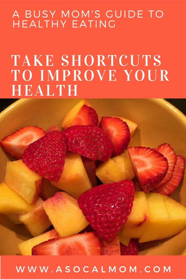 Simple tips for moms to eat healthy and fit healthy food into your busy lifestyle.
