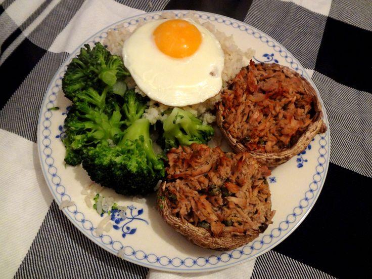 Recept: Gevulde Portobello met Tonijn