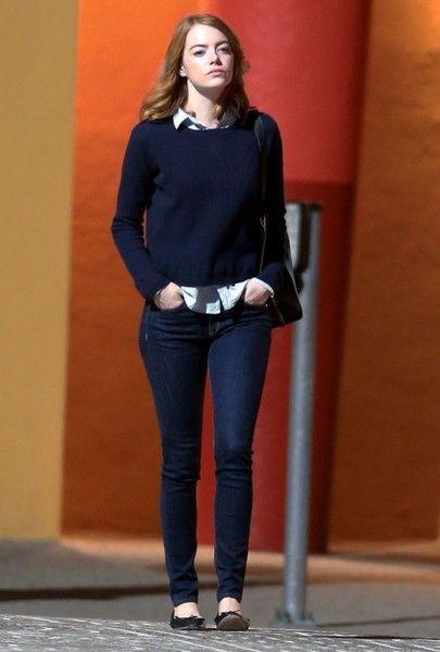 Emma Stone Photos: Stars on the Set of 'La La Land'