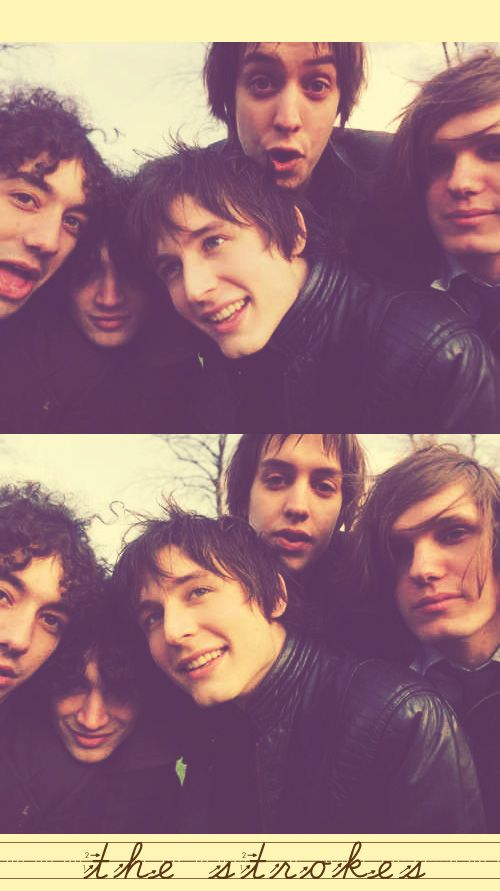 "The Strokes...Jesus they look so young, one might say ""Barely Legal"" hahaha ;)"