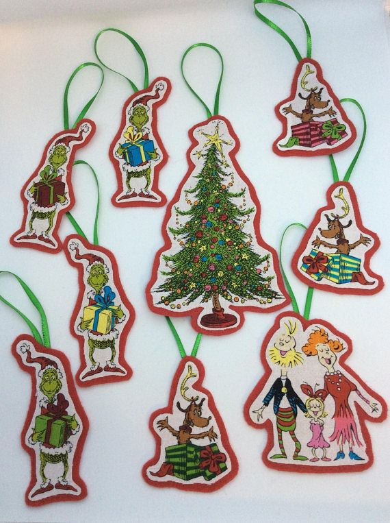 How the Grinch Stole Christmas, Christmas Ornaments-Set of 9 - How The Grinch Stole Christmas, Christmas Ornaments-Set Of 9
