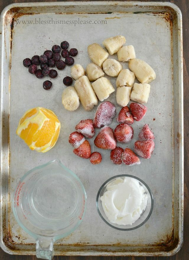 Ingredients for Smoothie 101 - how to make a good, better, and best smoothie, choose your level and enjoy!