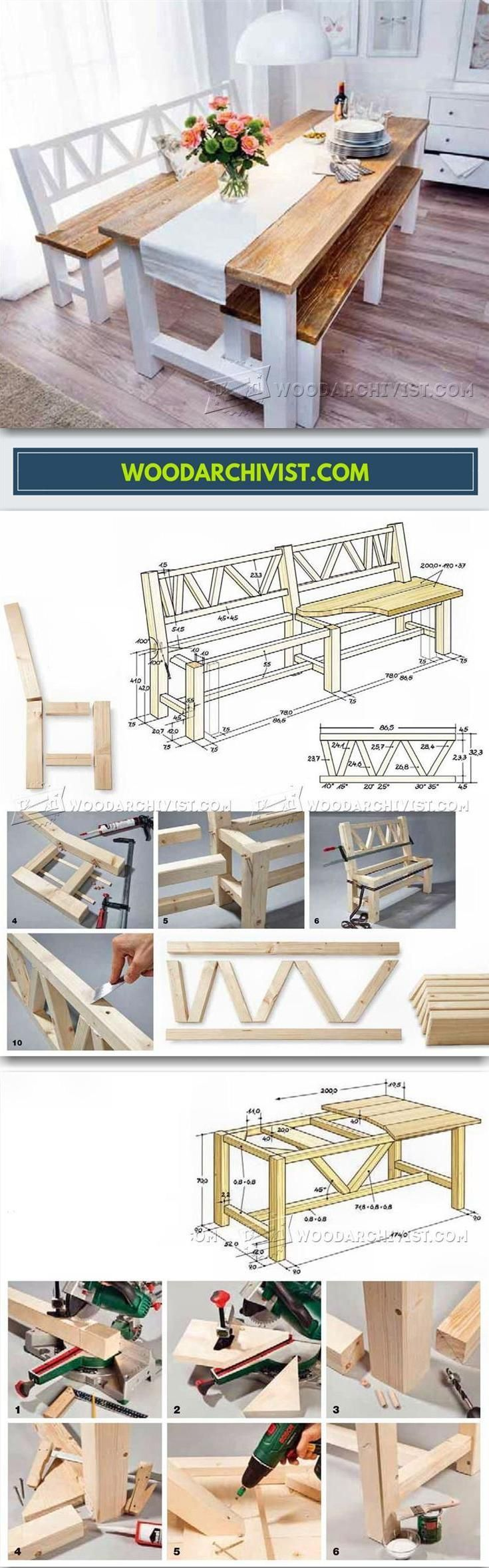 Dining Set With Bench Plans - Furniture Plans and Projects | WoodArchivist.com