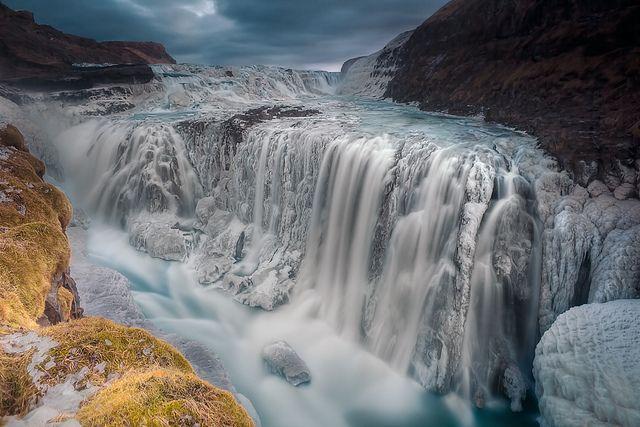 Oh Em Gee!: Photos, Frozen Waterfall, Ledge Iceland, Frozen Gullfoss, Aurora Photo, Places I D, Wodospady Waterfalls, Gullfoss Iceland