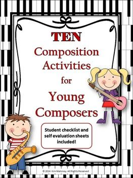 TEN MUSIC COMPOSITION TASKS Love this packet! I can use it from my beginning band all the way through my middle school classes. And I love the self evaluations too! Thank you!      #musedchat     #musiceducation