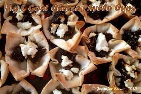 Phyllo cups, Figs and Goat cheese on Pinterest