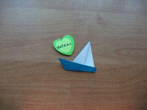 origami bateau étape 10