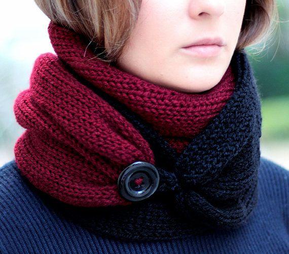 Вязаный шарф спицами - 1