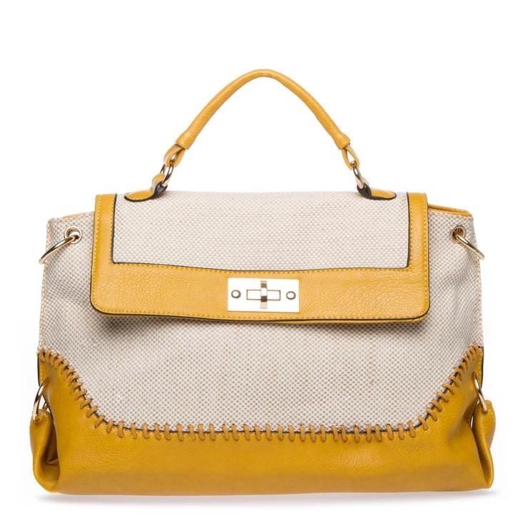 Elida Satchel <3<3: Fashion Advice, Colors Combos, Casual Canvas, Mani Bags, Fall Bags, Bags 40, Yellow Bags, Handbags Arrival, Texture Handbags So