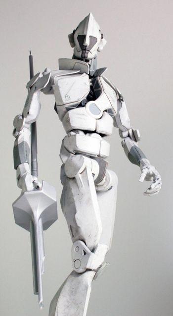 Singleton 3D Printed from Grey Goo as 7-Foot-Tall Life Sized Robot. #3DPrint