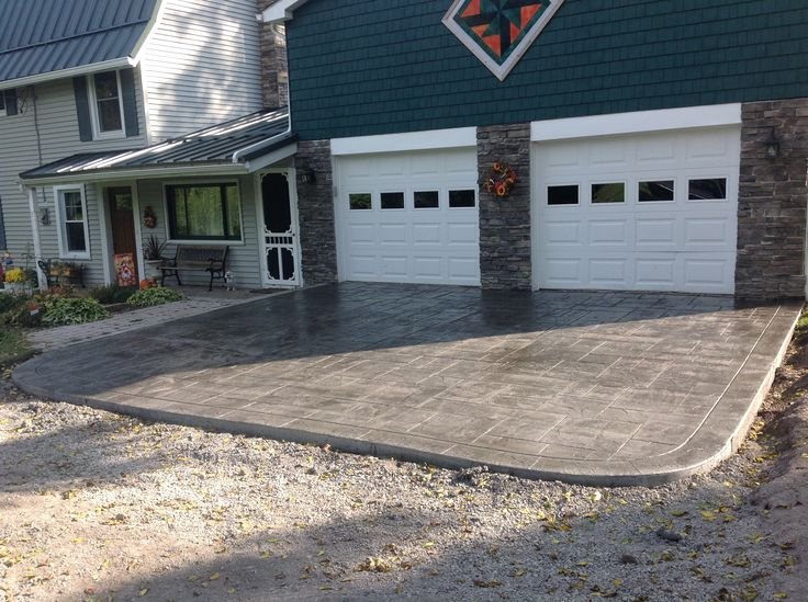 Stamped Concrete Driveway Livingston County New York