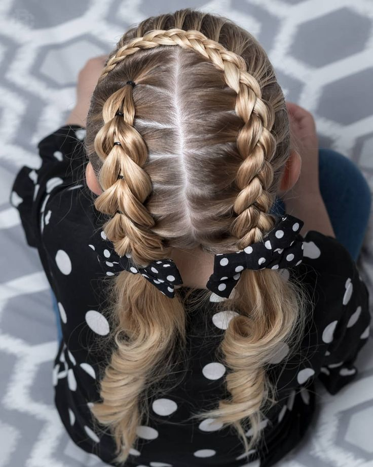 160 Braids Frisyre Ideer For Sma Barn Sindre Henrik Frisyrer Blog Hair Styles Braids For Long Hair Braided Hairstyles Easy