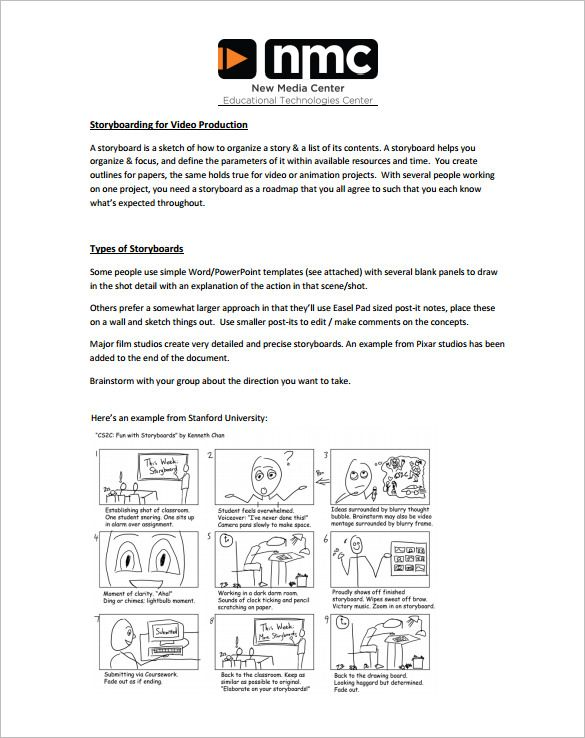 Storyboard Template U2013 85+ Free Word, PDF, PPT, PSD Format Download!