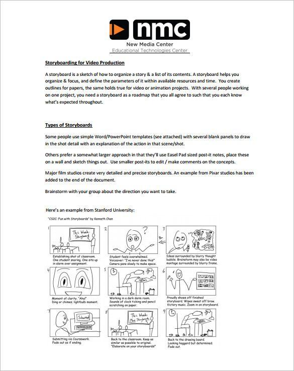 As 25 melhores ideias de Storyboard pdf no Pinterest Storyboard - sample video storyboard template