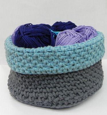 Corbeille au crochet (in french)