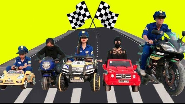 Motor Corrida Carro Disney ★ Ladrao Equipe vs Polícia Equipe correr atrá...