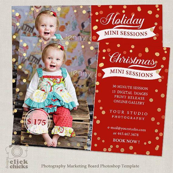 Werben Sie für Ihre nächste Weihnachten Mini-Sitzungen mit dieser adorable marketing Vorlage! Als Sitzung Ankündigungen auf dem Blog, im