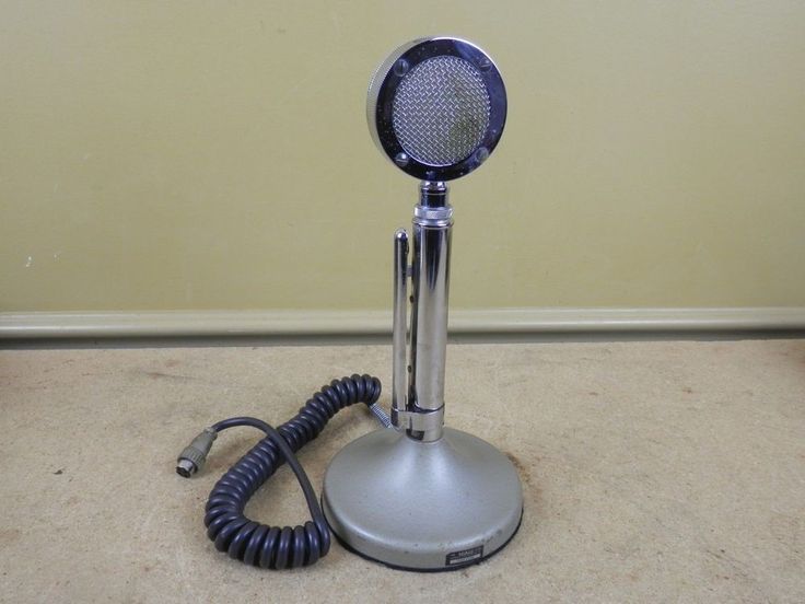 Vintage Astatic D104 HAM CB Radio Lollipop 4 Pin Microphone T-UG8 Stand  -WORKS #Astatic