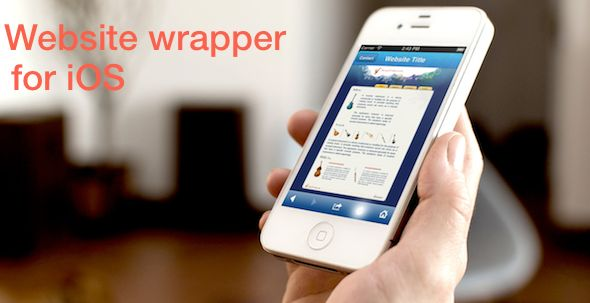 Mobile Website Wrapper for iOS . This Template simply wraps your website (normal or mobile optimised or even pdf file) and displays perfectly. Comes with back and forward buttons and these allows you use it as an in-app browser as well. Special Home button brings you to your pre-defined page when user tap on the home button. Share