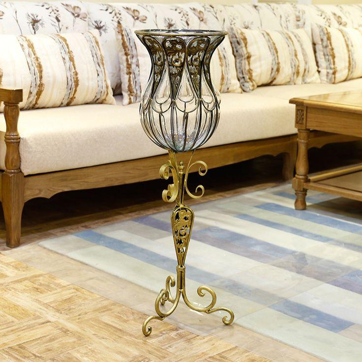 Континентальный украшения современный минималистский гостиная идеи дома Цветочная композиция цветы крупные прозрачного стекла Ваза