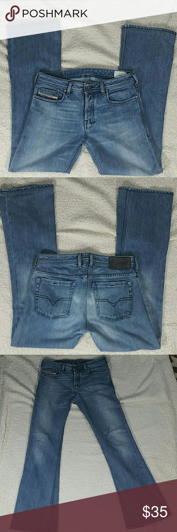 Deisel Zathan button-fly jeans 28W x 32L 29X32 Zathan Jeans Wash 0072J Made in Italy Diesel Jeans Bootcut