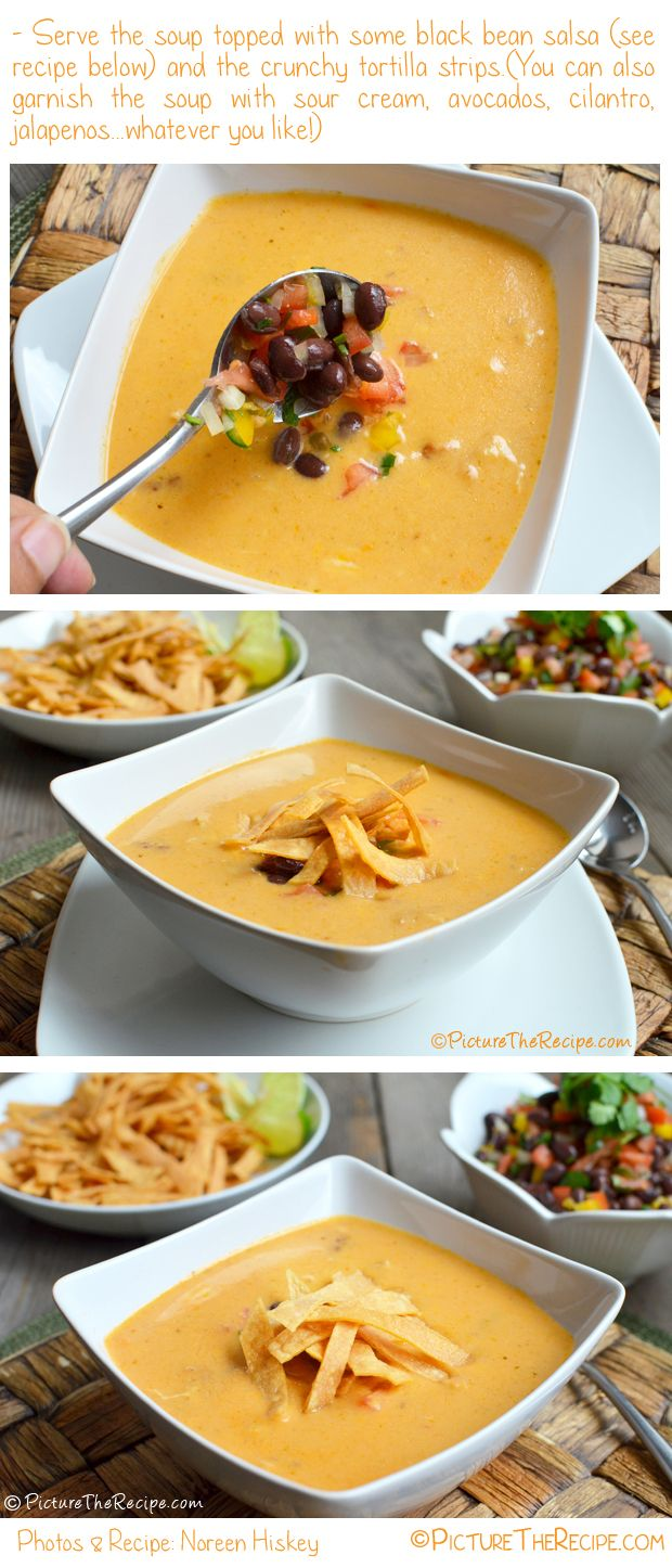 Chicken Tortilla Soup from Picture The Recipe! http://picturetherecipe.com/index.php/recipes/chicken-tortilla-soup/