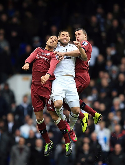 James Perch, Clint Dempsey and Steven Taylor
