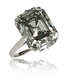 "A Rare French Art Deco Fancy ""Steel"" Grey 10-carat Diamond Ring."
