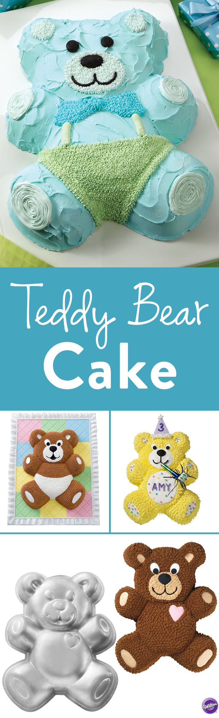 How to Make Teddy Bear Cakes - Everybody just loves teddy bears. This cutie will be busy all year-round with birthdays, school parties, baby showers and baby's first birthday. No time for hibernating with all these fun events on the agenda. Use the Wilton Teddy Bear Pan to easily mold cake and decorate as a bear.