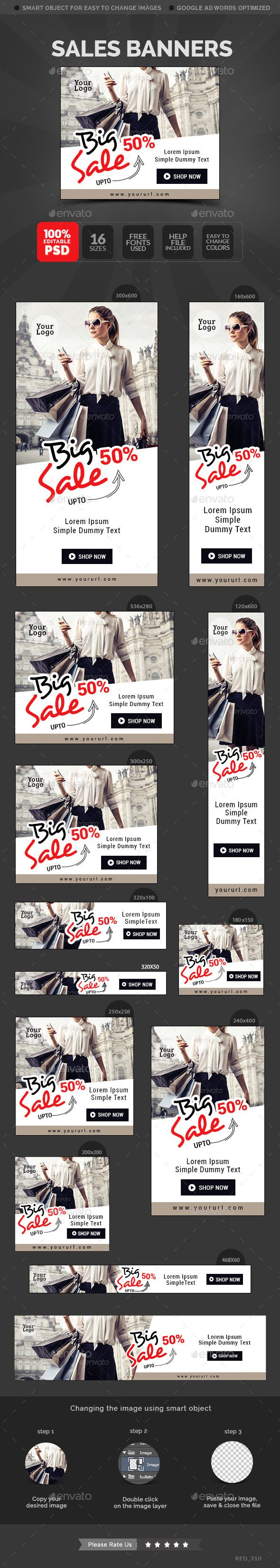 Sale Banners Template #design #web Download: http://graphicriver.net/item/sale-banners/11932737?ref=ksioks