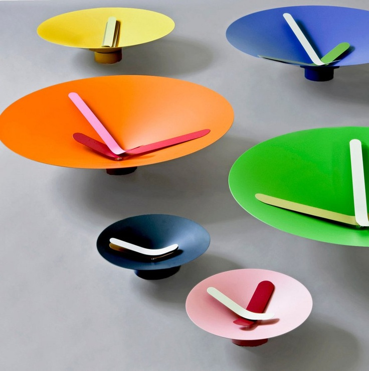Wall-Mounted #clock MOZIA by Diamantini & Domeniconi | #design Giovanni Levanti #colour