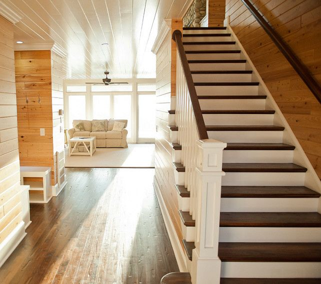 Staircase Stain Ideas. Staircase Stain. The Handrail And Stair Treads Are  Black Walnut With