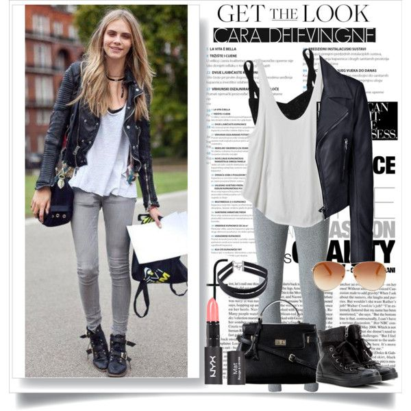 Look for less : Cara delevingne by mutiaranhlz on Polyvore featuring RVCA, Balenciaga, T By Alexander Wang, Dolce&Gabbana, Converse, Niclaire, Forever 21, Charlotte Russe and Tommy Hilfiger