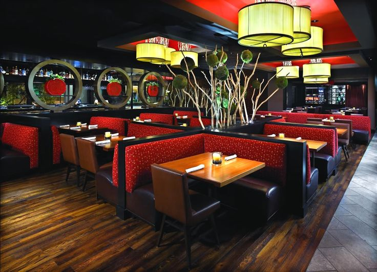 Dining Room Hospitality Furniture Design of YOLO Restaurant, Fort Lauderdale