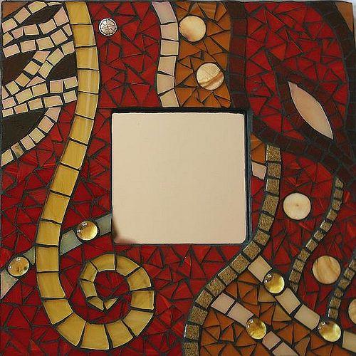 Klimt mosaic mirror