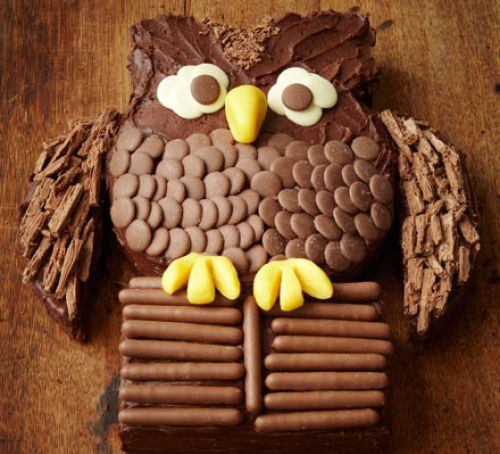 Chocolate owl cake – Owl Party