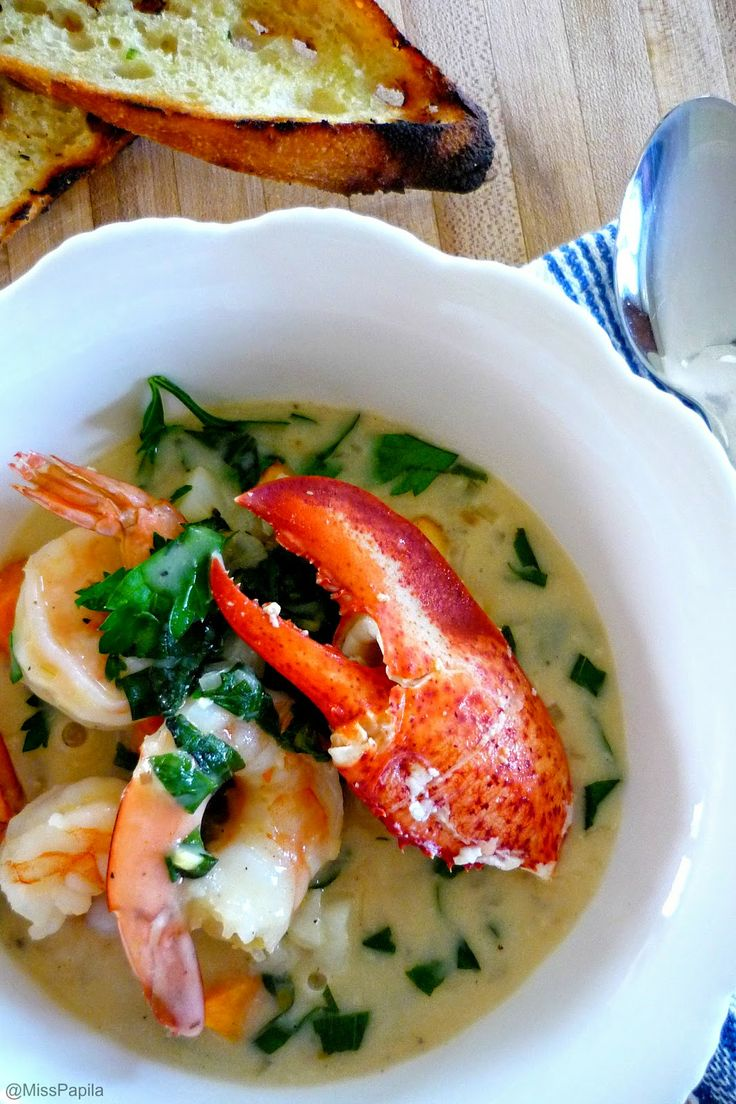 Chaudrée de homard de la Gaspésie! / gaspesian lobster chowder