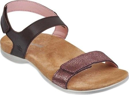 2ba1b2e987 Women's Spenco Milan Adjustable Strap Sandal - Java/Lotus Polyurethane  Leather with FREE Shipping & Exchanges. The Spenco Milan Adjustable Strap  Sandal ...