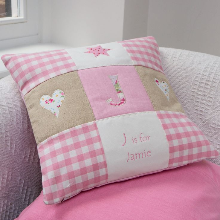 Alphabet Cushion Pink