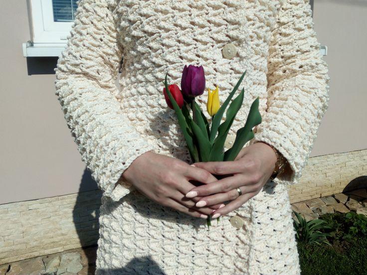 crochet coat, hadmade sweater