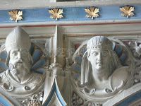 Schlosskirche: Nahaufnahme von Herzog Wilhelm Eugen und Herzogin Vera (nee Großherzogin von Russia). (Castle church: Close-up of Duke William Eugen and Duchess Vera (nee Grand Duchess of Russia).