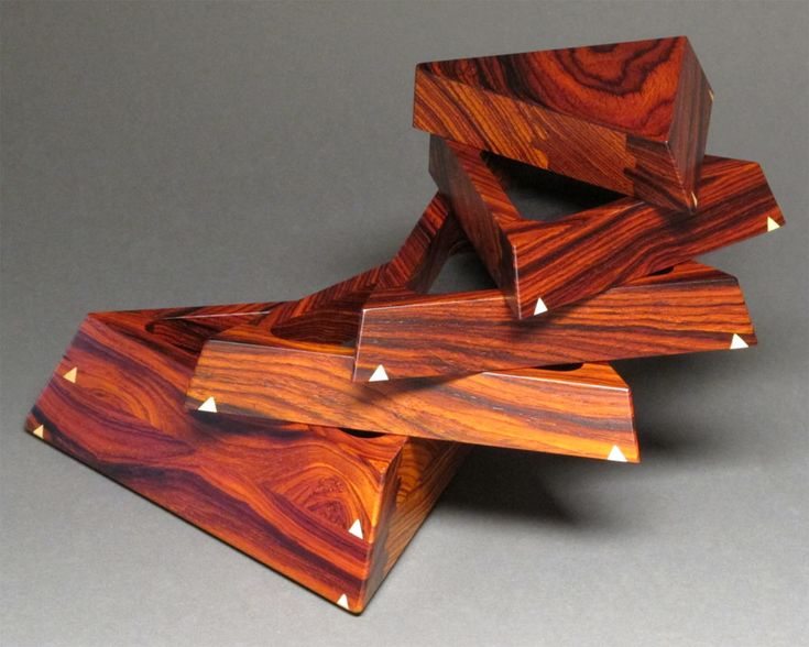 Trapezoid Box available in Granadillo hardwood