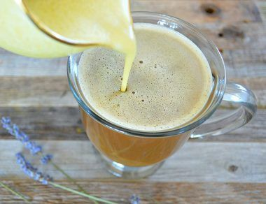 Homemade Turmeric Lavender Coffee Creamer