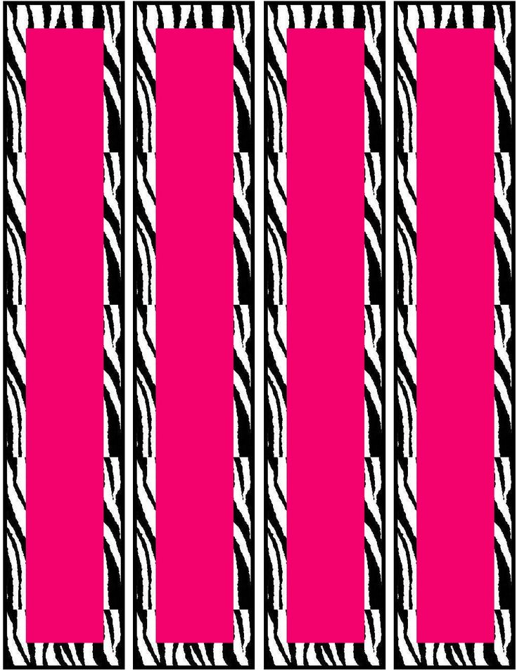 Free Pink Zebra Birthday Party Food Cards Printables & Cupcake Toppers---Water bottle